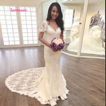 LEIYINXIANG Bride Dress Wedding Dress V-Neck