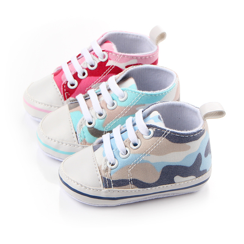 colorful Camouflage canvas infantil baby shoes sports boy girls shoe toddler boys for baby first walkes