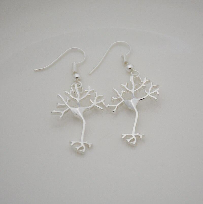 Boho Chic Silver Neuron Brain Nerve Cell Drop Earrings Brinco Hippie Long Life Tree Earrings For Women From Indian Jewelry