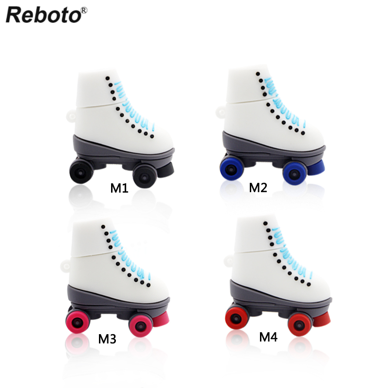 Retobo Usb 2.0 Fashion Ice Skates Shoes Winter Pen Drive 64gb Genuine Pendrive 4gb 8gb 16gb 32gb Roller Skates Birthday Present To Enjoy High Reputation In The International Market Vintage