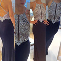 Prom Dresses 2016 Halter Beaded with Rhinestones Backless Mermaid Customized Luxury Prom Party Gowns abiye gece elbisesi 2016