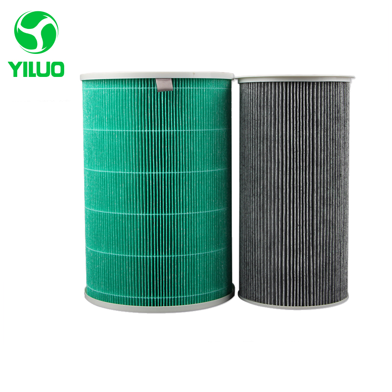 295*200mm cylindrical hepa M air filter cleaner parts, hot sale high efficient composite filter cartridge air purifier parts hot sale m