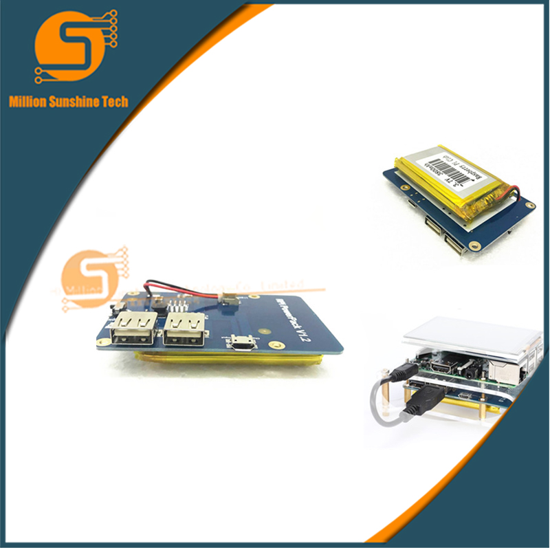 Lithium Battery Pack Expansion Board Power Supply with Switch for Raspberry Pi 3,2 Model B,1 Model B+ Banana Pi new arrival x5000 expansion board with 19v 4 7a power supply for raspberry pi 2 3 model b