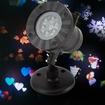 Novedad LED nieve proyección lámpara Navidad Halloween luz Festival vacaciones iluminación celebración herramienta para EE. UU./UE/Reino Unido Venta de enchufes
