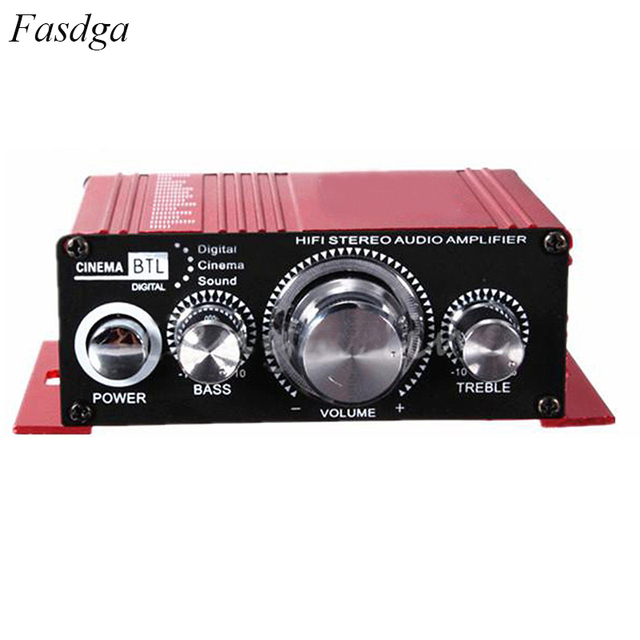 Best Offers Mini Auto Car Stereo Amplifier 2 Channel Audio Support CD DVD MP3 Input for Nehicle Trunk Motorcycle Hi-Fi 12V Audio Player