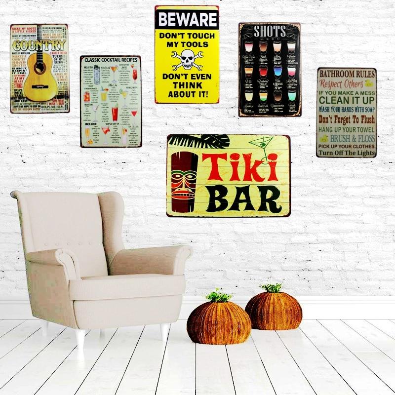 Tembakan Menu Logam Lukisan Tin Sign Dinding Bar Cafe Rumah Art Decor Kitchen Living Room Cuadros 30x20 Cm Du 1044 Plak Tanda Tanda Aliexpress