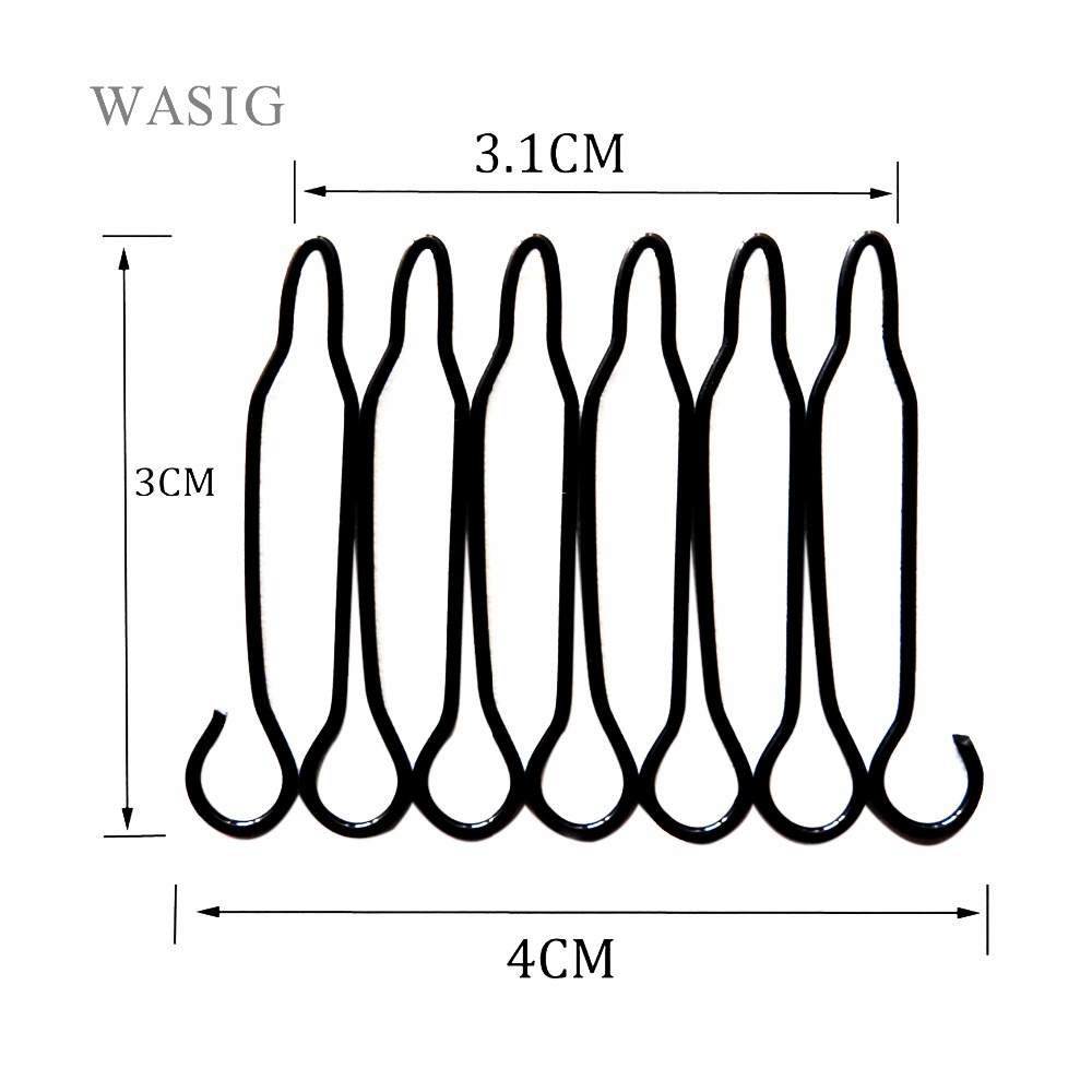 Free Shipping 24 Pieces Wig Comb For Wig Cap Black Color Wig Clips Top Quality Guarante