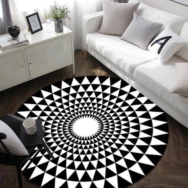 Nordic fashion geometric round carpet parlor living room mats 3d nordic fashion geometric round carpet parlor living room mats 3d world map children kids bedroom chair gumiabroncs Images