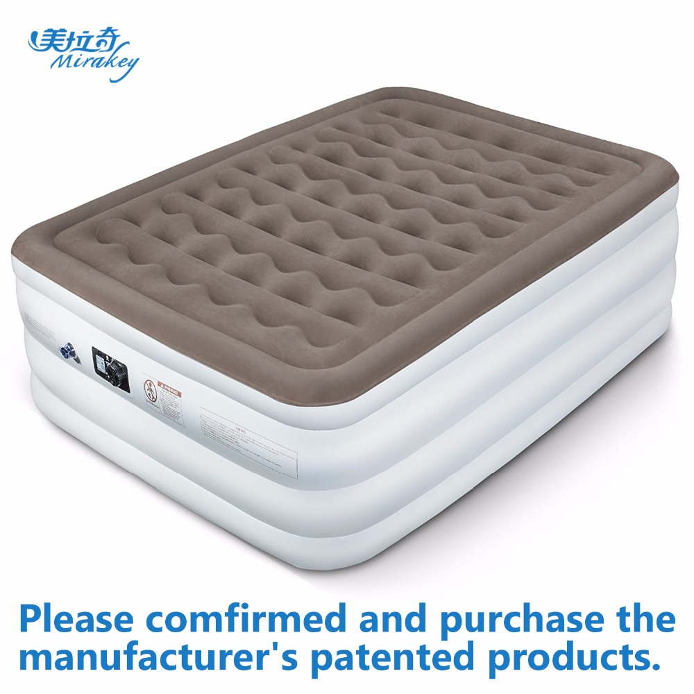 Mirakey airbed Queen size inflatable mattress with built ...