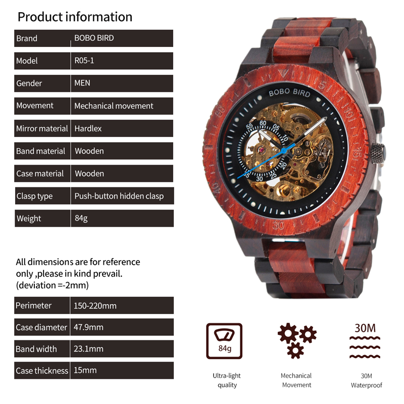HTB1nWqUVHPpK1RjSZFFq6y5PpXaO Personalized Customiz Watch Men BOBO BIRD Wood Automatic Watches Relogio Masculino OEM Anniversary Gifts for Him Free Engraving