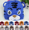 Toddler Kids Hat Baby Girls Boys Cute Tiger Tail Crochet Knit Hat Cap Beanie Bonnet 1-4Y