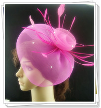 Free shipping 35 color high quality fascinator font b hats b font nice bridal hair accessories