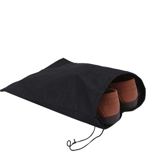 Adeeing Durable Non-Woven Material Shoe Bag with Drawstring Ideal for Storage And Travel