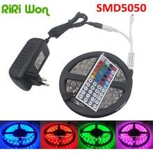 RIRI Won Full Set 5m RGB LED Strip 5050 fiexible light 150Leds,5m/lot,DC12V,RGB LED tape full sets