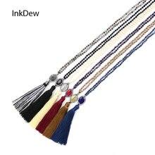 Ожерелье с кисточкой и бусинами inkdew для свитера