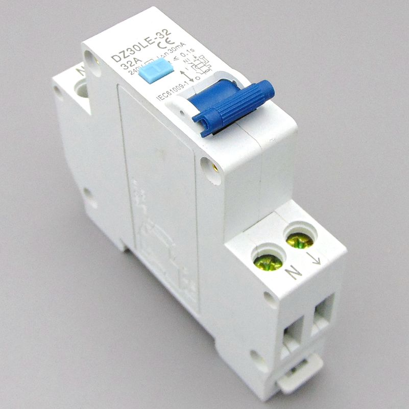 18MM RCBO 32A 1P+N Residual current Circuit breaker with over current and Leakage protection 30mA idpna vigi dpnl rcbo 6a 32a 25a 20a 16a 10a 18mm 230v 30ma residual current circuit breaker leakage protection mcb a9d91620