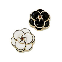 Fashion Camellia Brooches Flowers Jewelry Broaches For Women Sweater Dress Lapel Pins Clothes Brooch