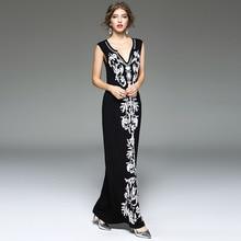 Summer Dress 2017 Womens Floral Embroidery Plus Size Elegant Sexy Beach Women Club Party Dress Ladies Boho Maxi Long Dresses