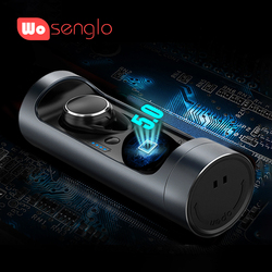 Wosenglo Bluetooth 5.0 Headphones True Wireless Stereo Mini Headphone in ear Earbud Built-in Mic with charge box For ios Android