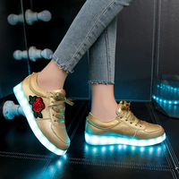 Size30 44 New Arrival Luminous Sneakers Glowing LED Shoes Boys Girls Sneakers With Light Sole Basket