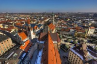 Home Decoration Munich Germany Building Roof Panorama Fabric Poster Print Accept Customization 317FJ