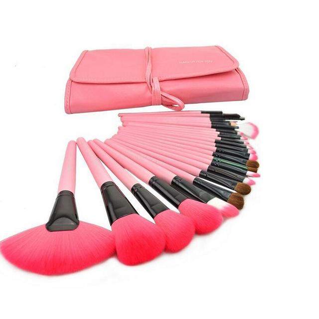 Marca de Maquillaje Cepillos de Pelo de Cabra Real Tecnología Cosméticos Conjunto de Pinceles Para Maquillaje Fundación Fan Blush Ceja kit Contorno de ojos