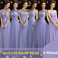 Lavanda elegante encaje dama de honor largo vestidos seis estilos Lavender dama de honor vestidos / vestido de boda