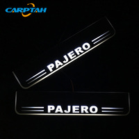 CARPTAH Trim Pedal Car Exterior Parts LED Door Sill Scuff Plate Pathway Dynamic Streamer light For Mitsubishi Pajero 2016 2018