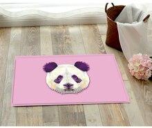 Flannel Front door mat bathroom mat soft warm strong water absorption panda carpet with anti-slip back 40*60CM