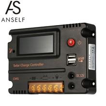 Anself 20A телефон с ЖК дисплеем, контроллер заряда солнечной батареи, регулятор батареи, автоматический переключатель, защита от перегрузки, температурная компенсация