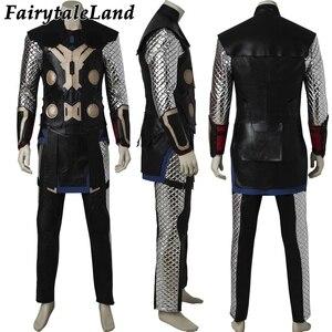 Image 3 - Vengadores: La era de Ultrón Cosplay de Thor disfraz de superhéroe de Halloween traje para hombres adultos Thor Odinson martillo traje botas