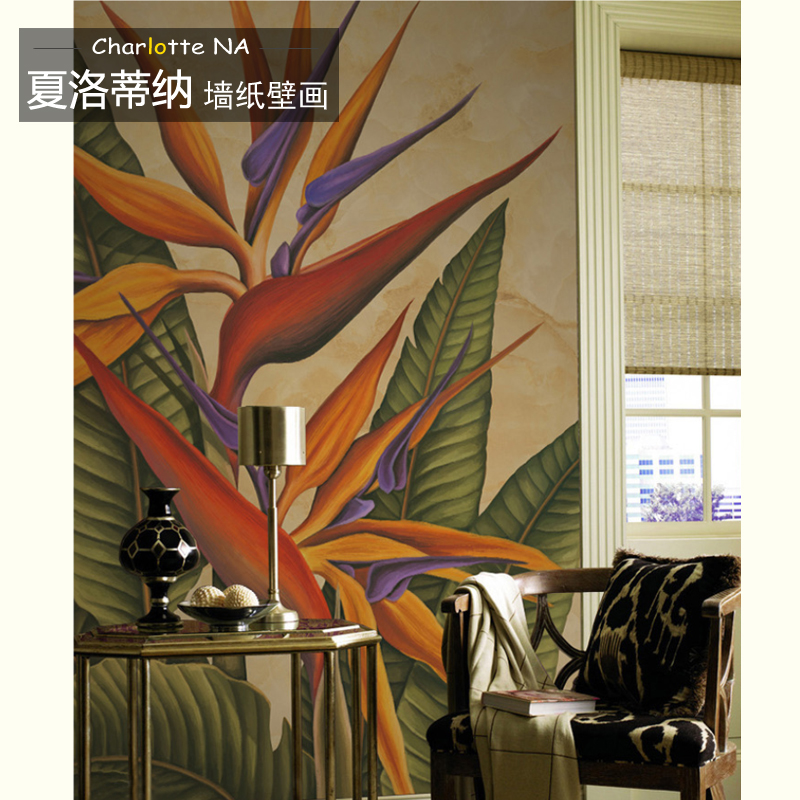 Free Shipping European corridor wall painting background wallpaper Hawaii non-woven wallpaper mural free shipping european corridor wall painting background wallpaper hawaii non woven wallpaper mural