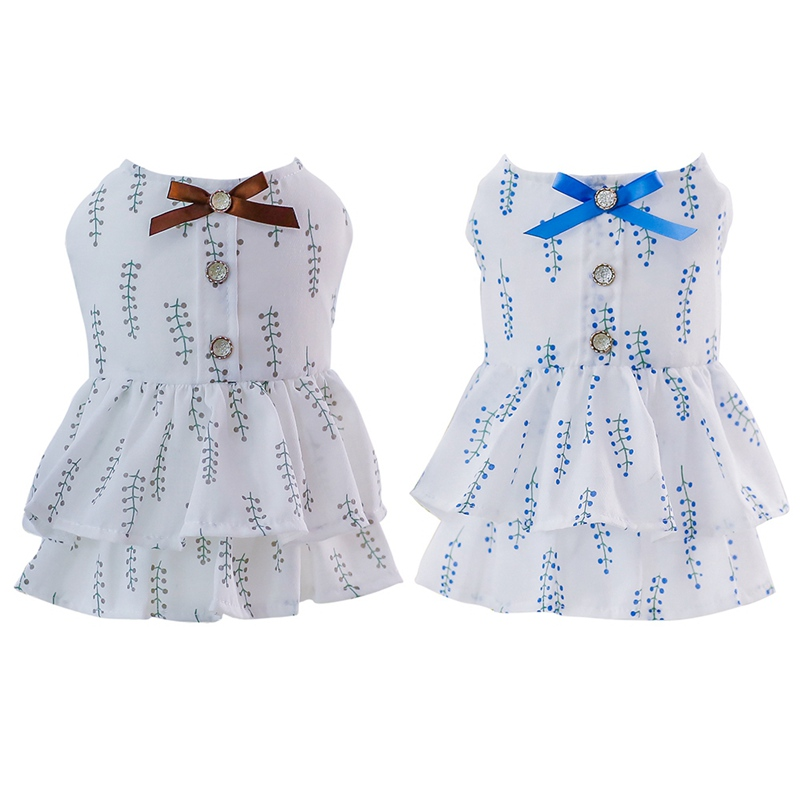 2019 Pet <font><b>Dog</b></font> Spring Summer <font><b>Dress</b></font> <font><b>Dog</b></font> Cute Princess <font><b>Dress</b></font> Clothes For Small <font><b>Dog</b></font> <font><b>Wedding</b></font> Skirt Puppy Chihuahua Yorkie Clothing image