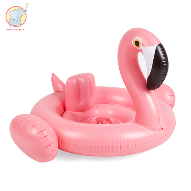 2018 hot sales Inflatable white and Pink Flamingo swimming ring baby water fun pool toy seat pool float for baby 2018