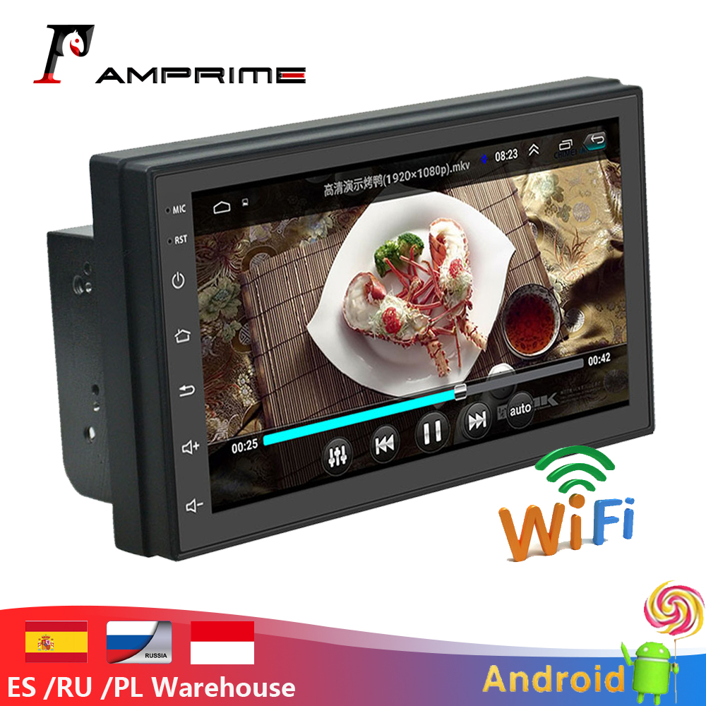 AMPrime universel 2 Din autoradio Android GPS Navigation voiture multimédia MP5 Bluetooth écran tactile Wifi voiture Audio stéréo FM/USB