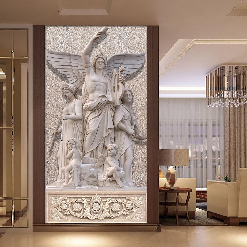 Europäischen Religion Thema Skulptur Wandbild Custom Foto Tapete ...