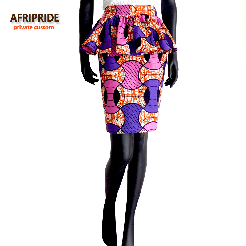 Spring new african skirt african dress for women bazin riche femme clothing fashion fabric pattern knee length plus size A722701 in Africa Clothing from Novelty Special Use