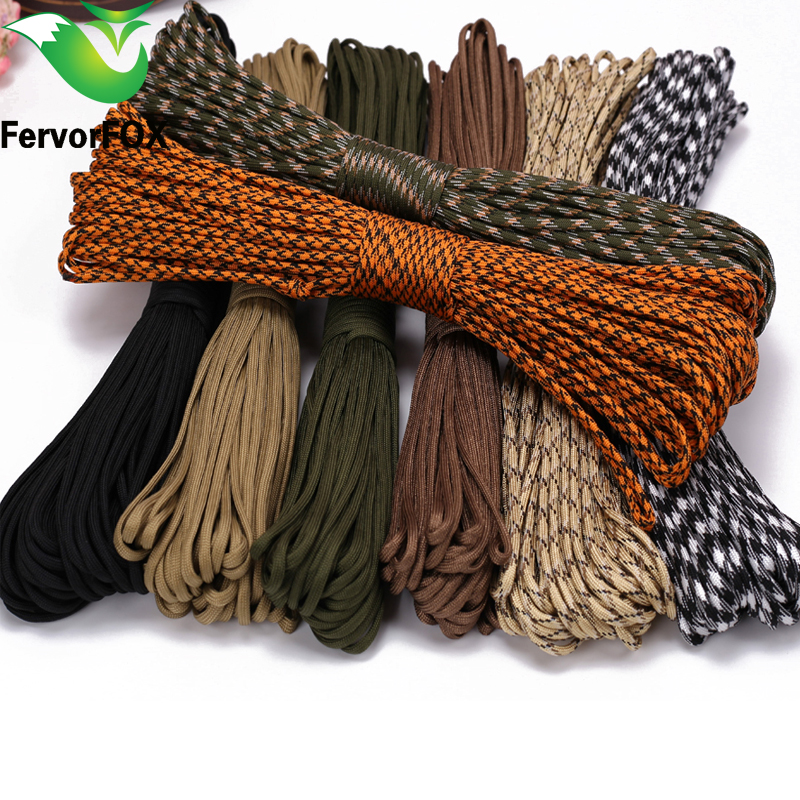 100M Paracord 550 Paracord Parachute Cord Lanyard Rope Mil Spec Type III 7 Strand Climbing Camping Survival Paracord hot sale 10ft reflective 550 paracord rope type iii 7 strand light reflecting for survival parachute cord bracelets paracord
