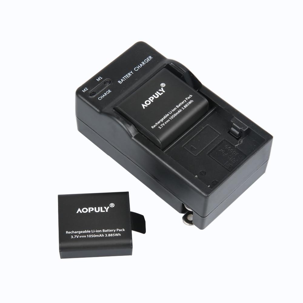 2 Pz PG1050 1050 mAh Fotocamera Batterie Ricaricabili + Caricatore Doppio Per L'azione fotocamera SJCAM EKEN H9 H9R H3 H3R H8PRO H8R H8 batteria