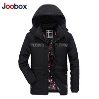 JOOBOX Brand 2018 High Quality Cotton 100% Mens Winter Jackets And Coats Hooded Long Thick Warm Casual Male Parka Fit Snow Cold