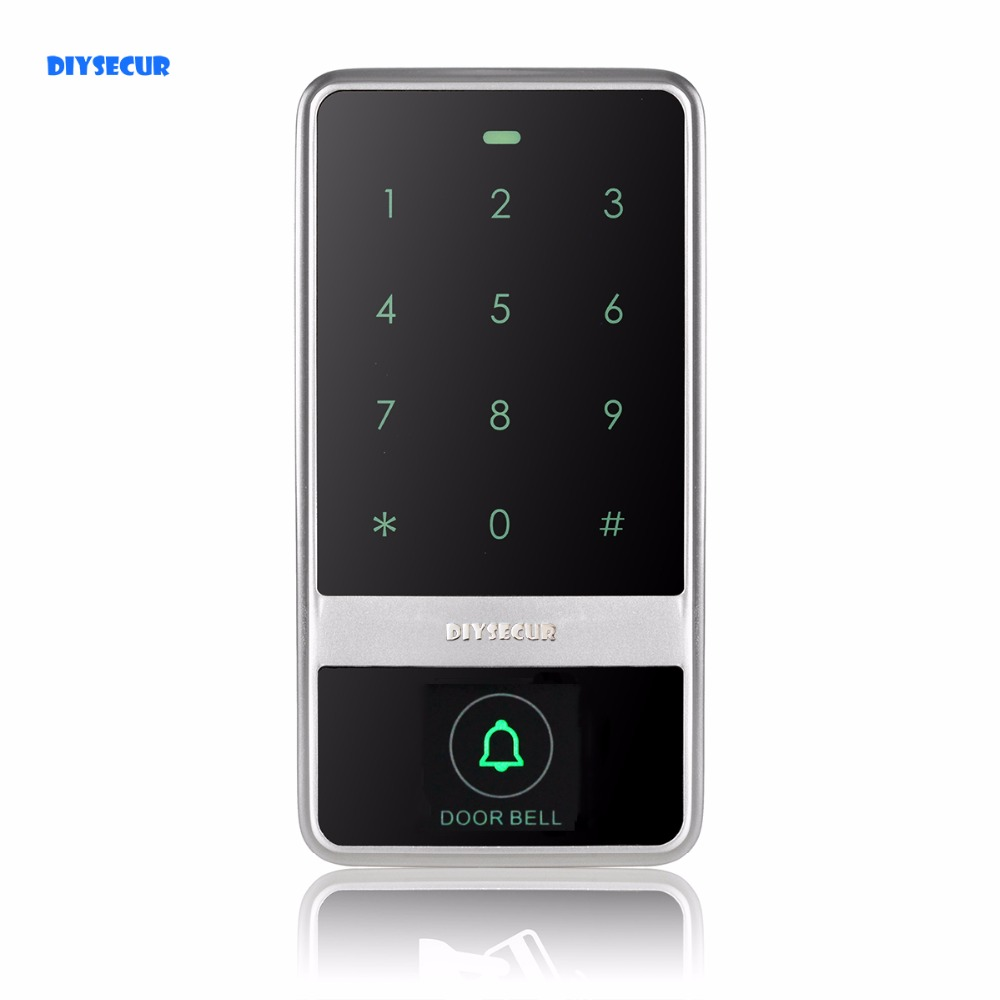 DIYSECUR Quality 8000 Users Touch Keypad 125KHz RFID Reader Access Controller For House / Office / Home Improvement Silver C60 diysecur touch keypad 125khz rfid id card reader access controller kit for house office home improvement free shipping