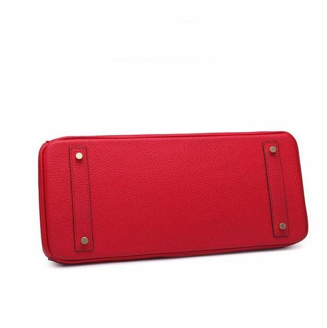35CM Luxury Fashion Classic 100% Genuine Leather Women BagHandbag Cowhide ladies' Tote Bag Platinum Clutch bag~278