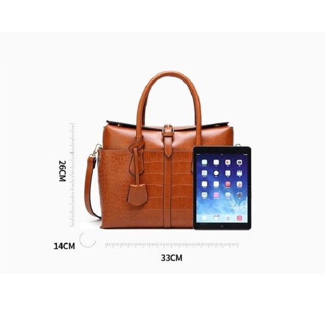 Designer Women Shoulder Bag Large Tote Bag Women's Quality Handbags for Female Crocodile Leather Messenger Bag 3