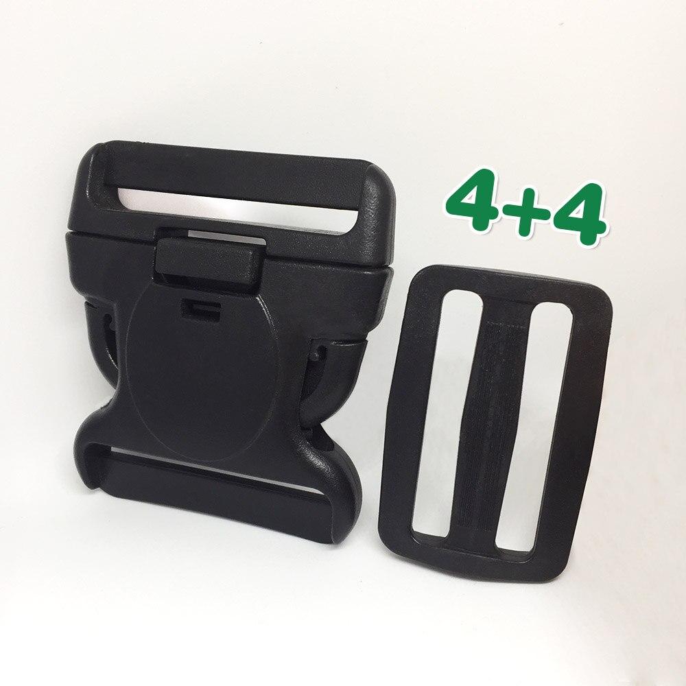 2sets plastic belt buckle Side Release Buckle 50mm 2 Inches Adjustment Clips for canvas belt DIY bag accessories Adjustable Tied