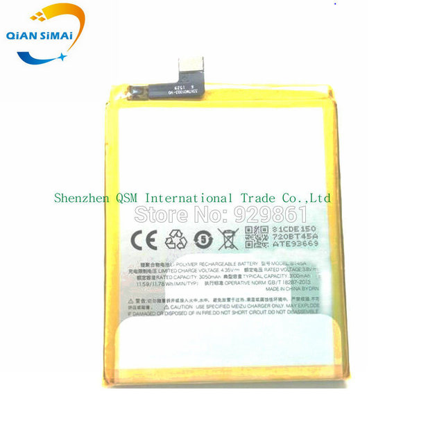 QiAN SiMAi 3050mAh new original  high quality BT45A BT 45A battery for  Meizu Pro 5 mobile phone free shipping +track number