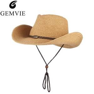be1ab35270a gemvie Hat For Men Women Straw Hat Beach Sun Cap Summer