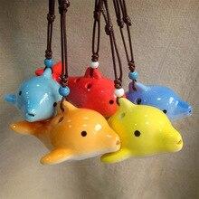 Ocarina Музыкальные инструменты 6 отверстий C дельфины моделирование начинающих детей подарок