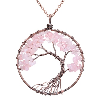 Chakra Tree Of Life Pendant Necklace 1