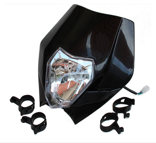 r <font><b>Bike</b></font> Motorcycle <font><b>Universal</b></font> <font><b>Headlight</b></font> Headlamp For Kawasaki Suzuki Honda Yamaha <font><b>Dirt</b></font> <font><b>Bike</b></font> Black image