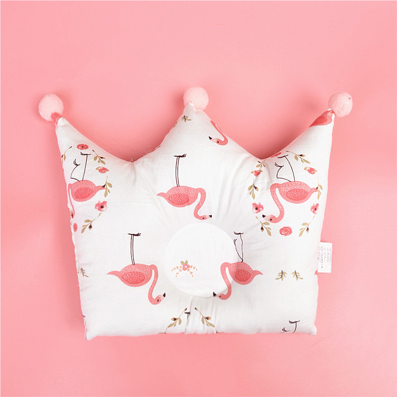 Cute Pillow For Baby Head Shape Prevent Flat Head Crown Star Cloud Bedding Nursing Pillow Newborn Infant Boy Girl Room Decor